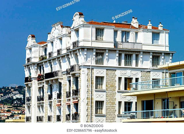 Beautiful Nice city summer day view, France. Tourism concept