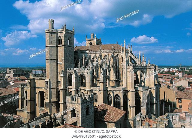 France - Languedoc-Roussillon - Narbonne. St. Just and St. Pasteur Cathedral (13th-14th century)