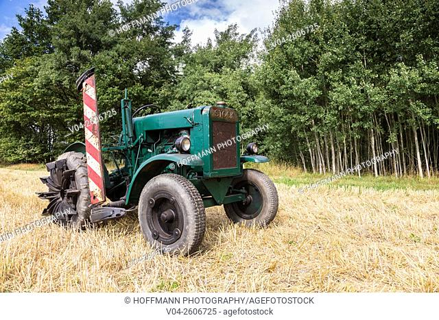 Vintage Stock tractor in Lower Saxony, Germany, Europe
