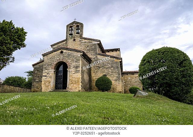 Pre-Romanesque church San Julián de los Prados in Oviedo, Asturias, Spain