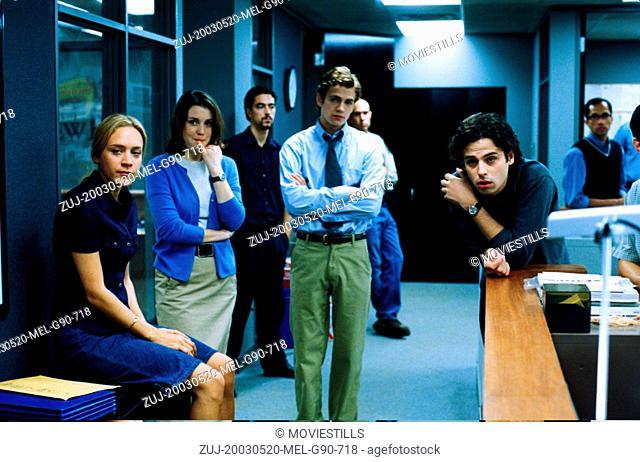 RELEASED: Aug 10, 2004 - Original Film Title: Shattered Glass, Pictured: HAYDEN CHRISTENSEN, CHLOE SEVIGNY (Credit Image: © Lions Gate Films/Entertainment...