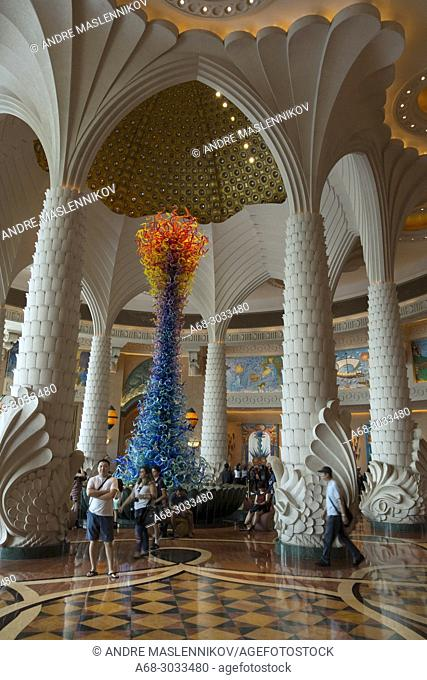 Inside the Atlantis hotel. Palm Jumeira. Palm island