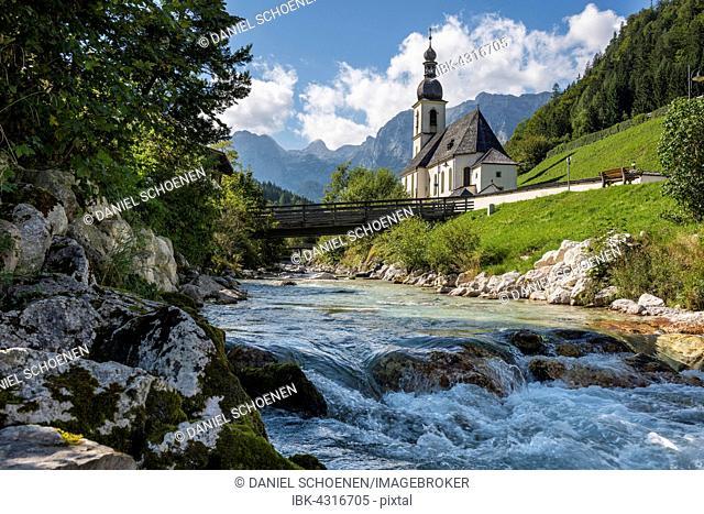 Parish Church of St. Sebastian, Ramsau near Berchtesgaden, Berchtesgadener Land district, Upper Bavaria, Bavaria, Germany