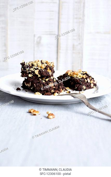 Brownies with chopped nuts