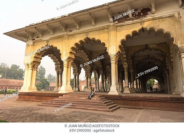 Agra Fort, Hall of Public Audiences, Uttar Pradesh, Agra, India
