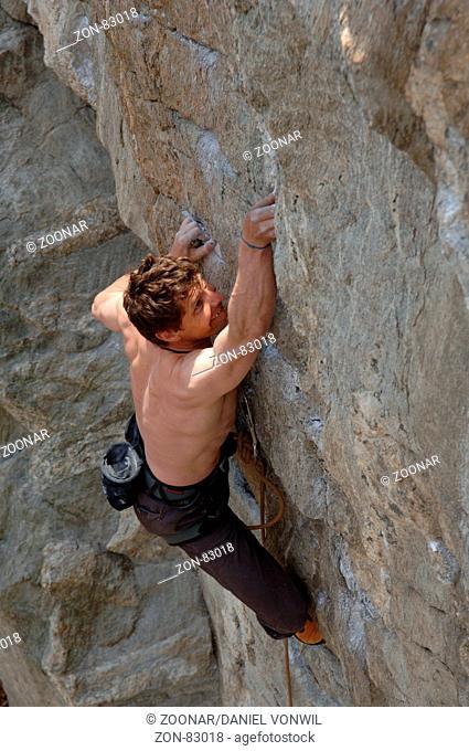Climbing in Tessin