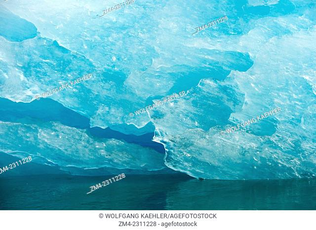 Icebergs from LeConte Glacier drifting in LeConte Bay, Tongass National Forest, Southeast Alaska, USA