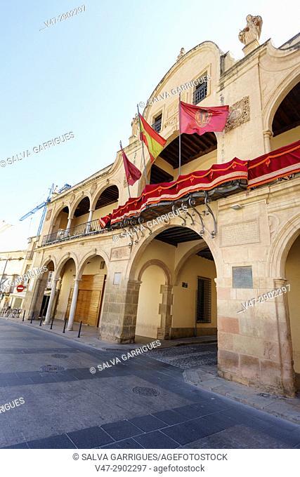 Baroque facade of the town hall of Lorca, Murcia