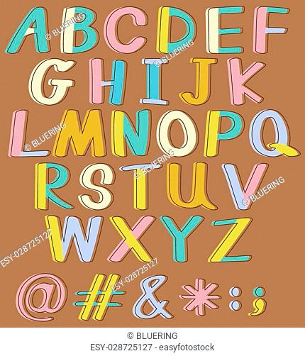 English alphabet striped Stock Photos and Images | age fotostock