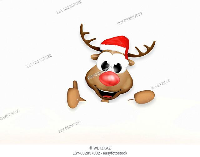 Christmas Thumbs Up Reindeer Winter Design