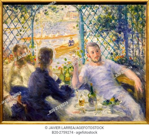 """""""""""""""Luncheon at La Fournaise' The Rowers Lunch"""""""" 1875, Pierre-Auguste Renoir"""