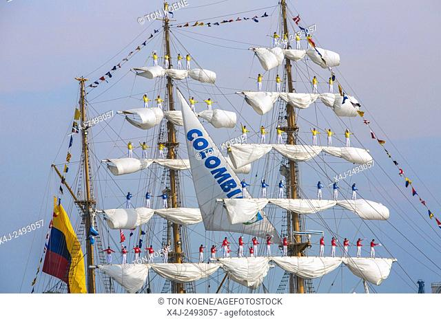 ARC Gloria at the 5 yearly Sail in 2015 in Amsterdam