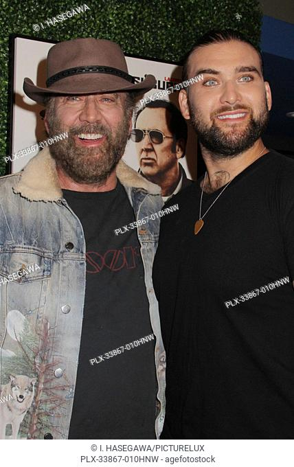 "Nicolas Cage, Weston Coppola Cage 09/16/2019 """"Running with the Devil"""" premiere held at Writers Guild Theater in Beverly Hills, CA Photo by I"