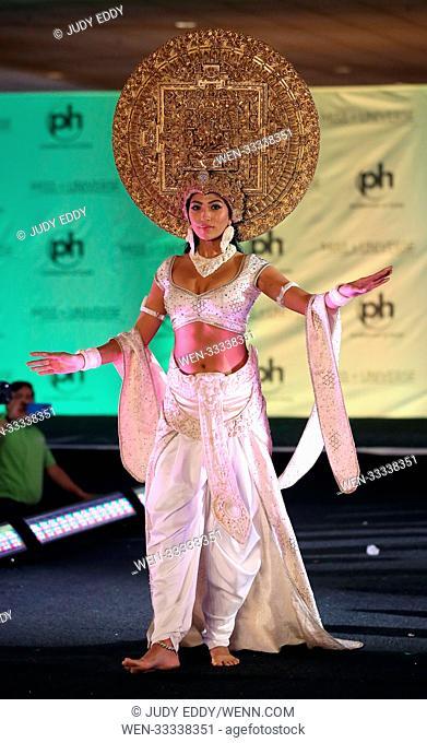 Miss Universe National Costume Show at Planet Hollywood Resort & Casino Featuring: Miss Nepal Nagma Shrestha Where: Las Vegas, Nevada