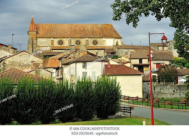 Eglise St. Etienne, Lauzun, Lot-et-Garonne Department, New Aquitaine, France