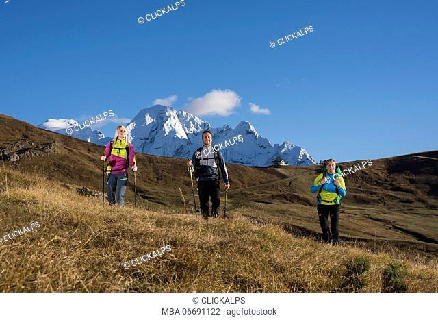 Dolomites, Fassa Valley, Trentino, Italy, Europe, Alps, Mountain, Pordoi pass, Vernel mount