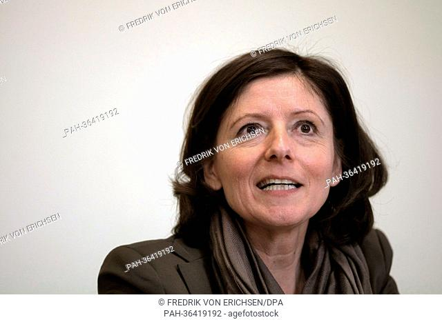 New Premier of Rhineland-Palatinate Malu Dreyer takes part in a press conference in Pont-a-Mousson near Nancy, France, 24 January 2013