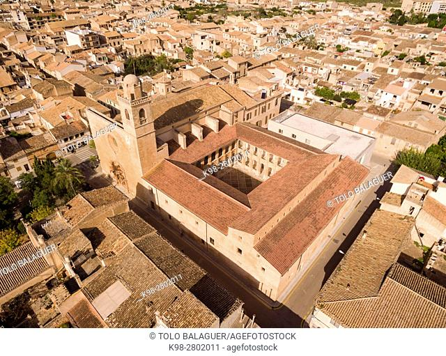 Church and cloister of Sant Bonaventura, Llucmajor, Mallorca, balearic islands, spain, europe