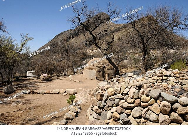 An intertribal sweat lodge site, blessed by a Navajo medicine man Dan Chee, has been used for Native American ceremonies in Montosa Canyon, Santa Rita Mountains