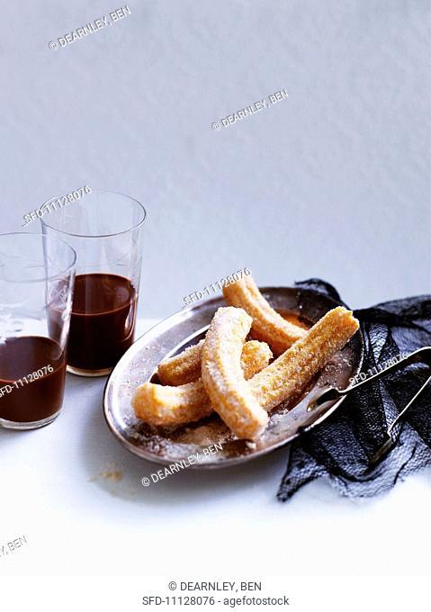 Churros (deep-fried choux pastry doughnuts, Spain)