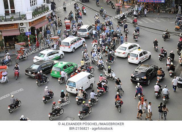 Road traffic, Hanoi, Vietnam, Southeast Asia