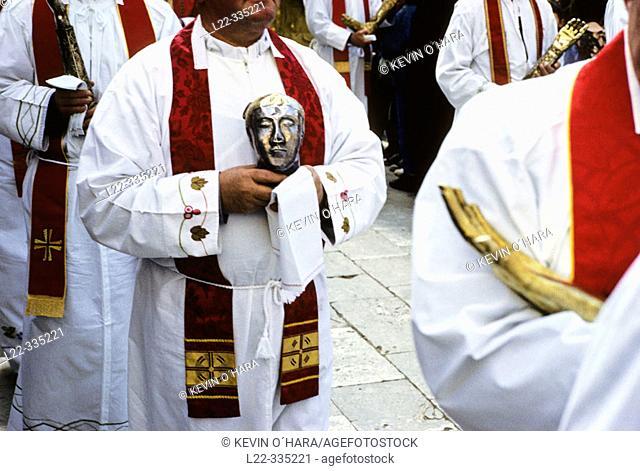 Shrines, Roman Catholic St. Blaise's celebration. Dubrovnik. Croatia