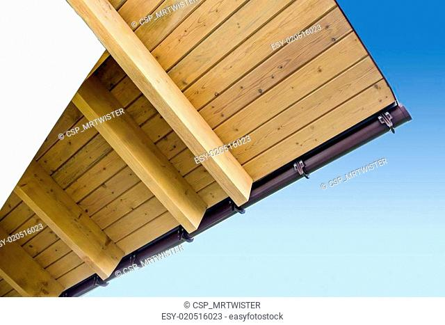 Roof truss system from below