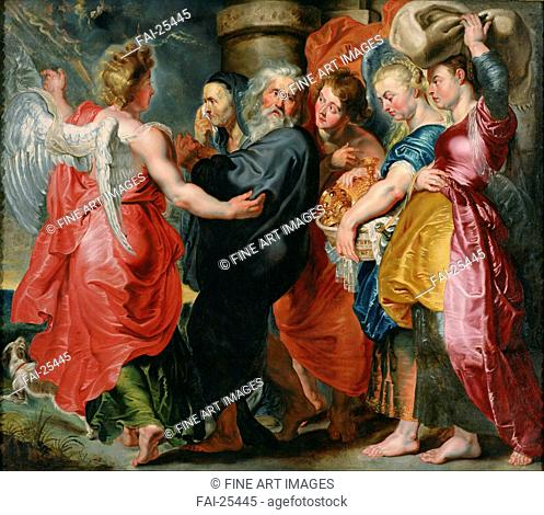 The Flight of Lot and His Family from Sodom (after Rubens). Jordaens, Jacob (1593-1678). Oil on canvas. Baroque. c. 1618. Flanders