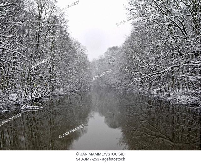 River in a winterly landscape