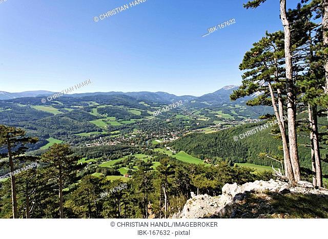 View of the village of Reichenau at the Rax , Lower Austria, Austria