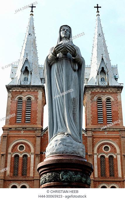 Asia, Asian, Southeast Asia, Vietnam,Ho Chi Minh City, Saigon Notre-Dame Basilica, Catholic Church