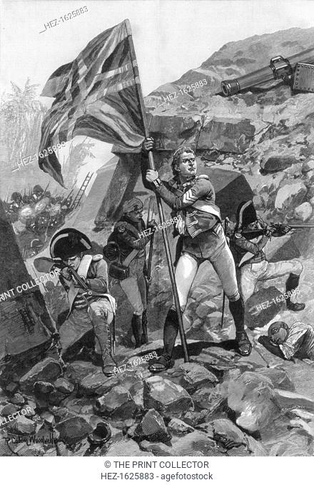 'Brave conduct of sergeant Graham, Battle of Seringapatam', 1894. In the fourth Anglo-Mysore War in 1799, the Battle of Seringapatam was the final confrontation...