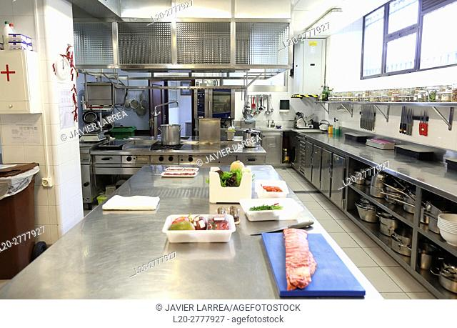 Cooking school, Cuisine School, Donostia, San Sebastian, Gipuzkoa, Basque Country, Spain, Europe