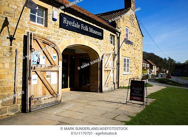 Ryedale Folk Museum Hutton le Hole North Yorks Moors England