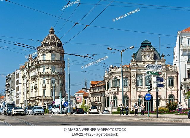 Avenue Emidio Navarro, Hotel Astoria, Banco de Portugal, Coimbra, Portugal, Europe