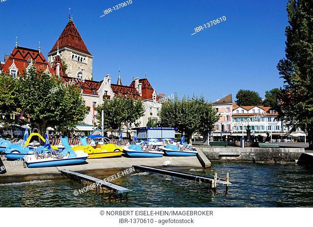 Chateau d'Ouchy palace, Lausanne, Lake Geneva, Canton Vaud, Switzerland, Europe