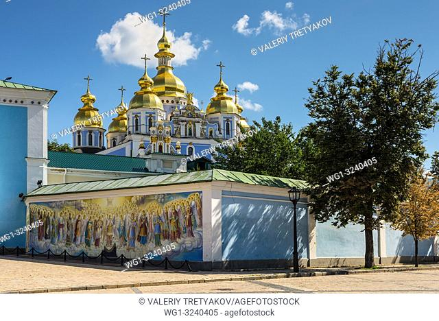 Kyiv, Ukraine - August 17, 2013: St. Michael's Golden-domed Cathedral is a functioning monastery in Kyiv. It was demolished by the Soviet authorities