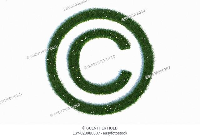 Copyright Series Symbols out of realistic Grass