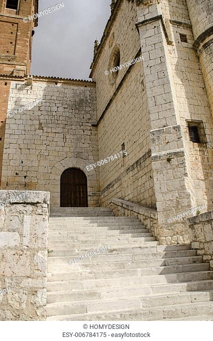 San Antonin Church at Tordesillas (Spain), located in Valladolid province, place where Catholic Monarchs signed the Treaty of Tordesillas with the Portuguese...