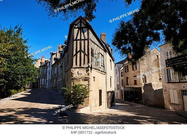 France, Loiret, Orleans, 7 dormant and Charpenterie street