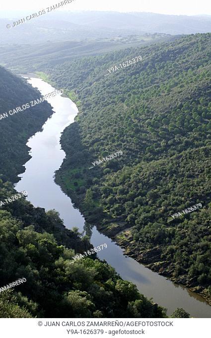 Ardila river from Noudar Castle, Barrancos, Beja, Alentejo, Portugal