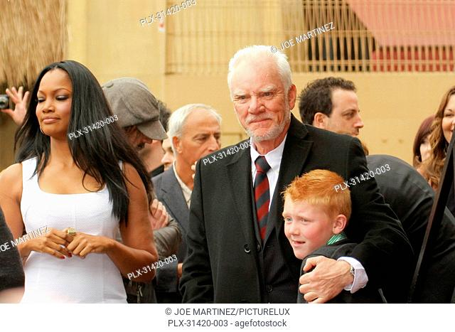 Garcelle Beauvais, Malcolm McDowell and son Beckett at the Hollywood Chamber of Commerce ceremony to honor Malcolm McDowell with a star on the Hollywood Walk of...