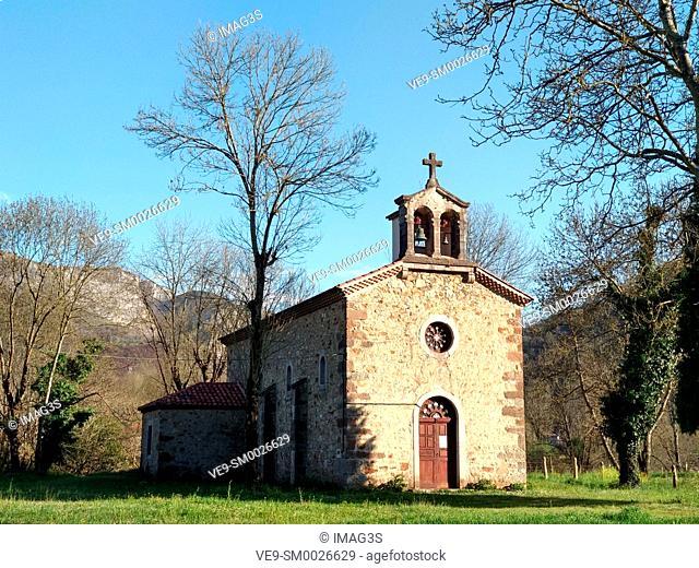 San Pedro church, Avalle, Cangas de Onís, Asturias, Spain