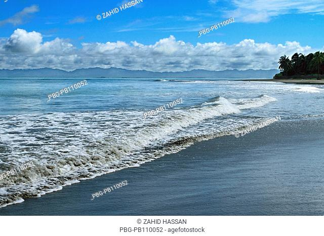 Huge tides in the Bay of Bengal at the Saint MartinÆs Island, locally known as Narkel Jinjira It is the only coral island and one of the most famous tourist...