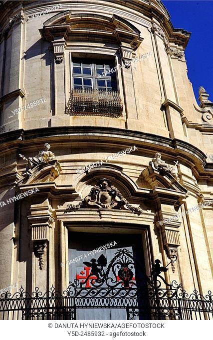 Europe, Italy, Sicily, Catania, old town, San Giuliano church, Via Crociferi, Crociferi street