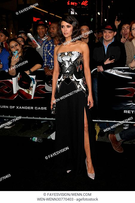 xXx: Return of Xander Cage Premiere held at the TCL Chinese Theatre IMAX - Arrivals Featuring: Nina Dobrev Where: Hollywood, California