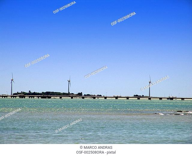 fortaleza beach view of the pier bridge