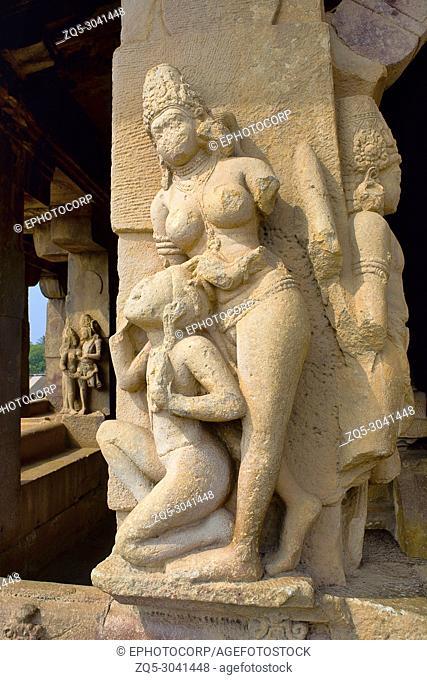 Carvings on Durga temple, Aihole, Bagalkot, Karnataka, India