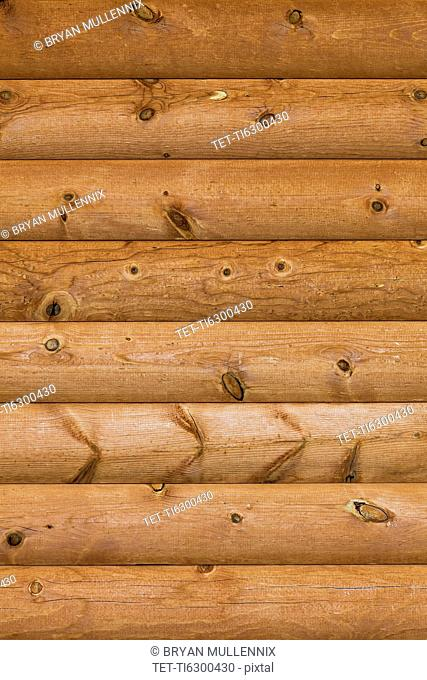 Close-up view of wooden wall