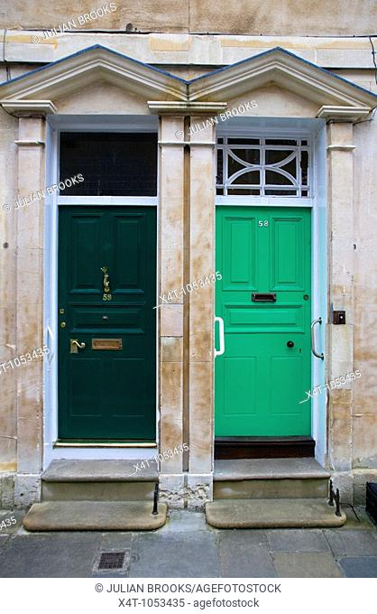two doors and in St John's Street Oxford, Typical Oxford Architecture